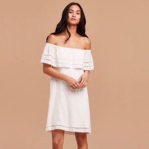Aritzia Emmie Off the shoulder Dress